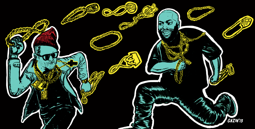 Run The Jewels  El-p & Killer Mike available for FREE download. Click on the image! A lot of hype from all the right places on this one. Rightly so. Seems to take off where Cancer 4 Cure left off in many ways.