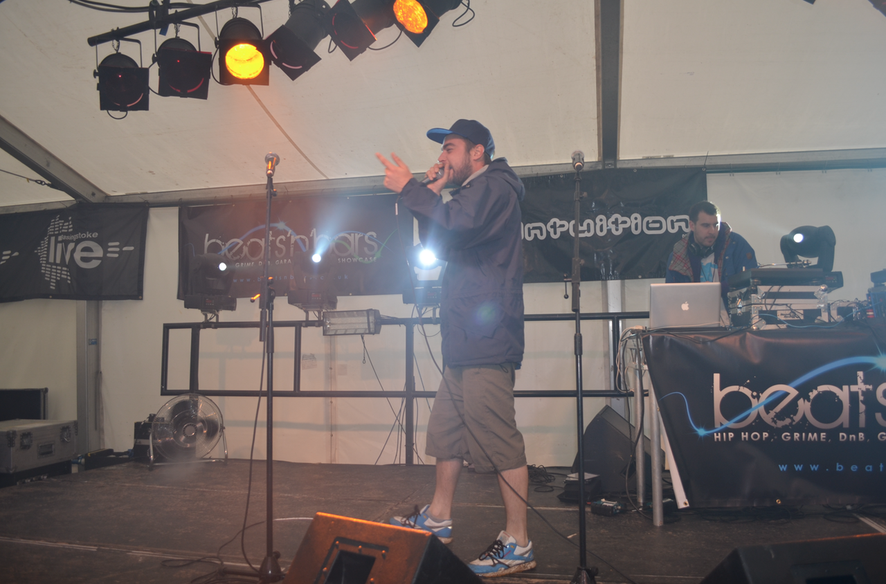 Holdin' Court at Basingstoke Live 2012!    Oliver Sudden  and  DJ Ivan6  live and mid-set at Basingstoke Live 2012 back in mid-July as part of Holdin' Court's first festival appearance of the summer.  Huge shout to  Tenchoo  and  Marvin Hagglar  for representing independent UK Hip-Hop in it's purist form on behalf of Holdin' Court,  to Hard Graft Records who smashed the set before us and a special thanks to Patsy at  Beats'nBars  for inviting us back for our second year running.