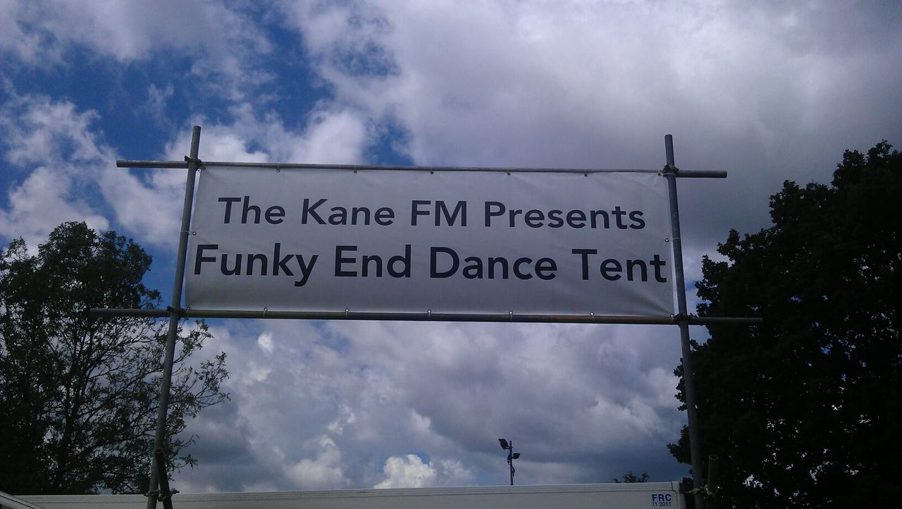 This Sunday!   Things are starting to take shape down at Stoke Park in Guildford, the annual setting for Guilfest.  This year Holdin' Court have their first ever representative  DJ Shep  in the  Kane FM Presents: The Funky End Dance Tent  from midday Sunday.  Big shout to Mr Fame and the Kane FM team!