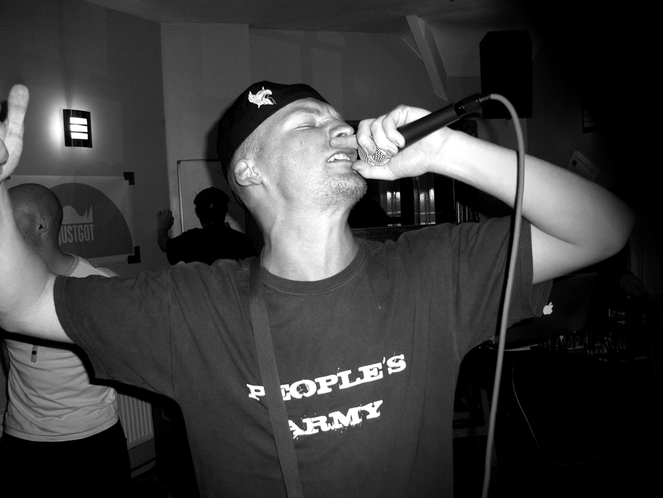 Holdin' Court August 2011 Show                                                                                                                                                                                     Above : Emerge emcee performing as part of Holdin' Court's August All-Dayer.  Thanks to all performers and those who came down to watch it unfold.  The next Holdin' Court is Saturday 1st October 2011.