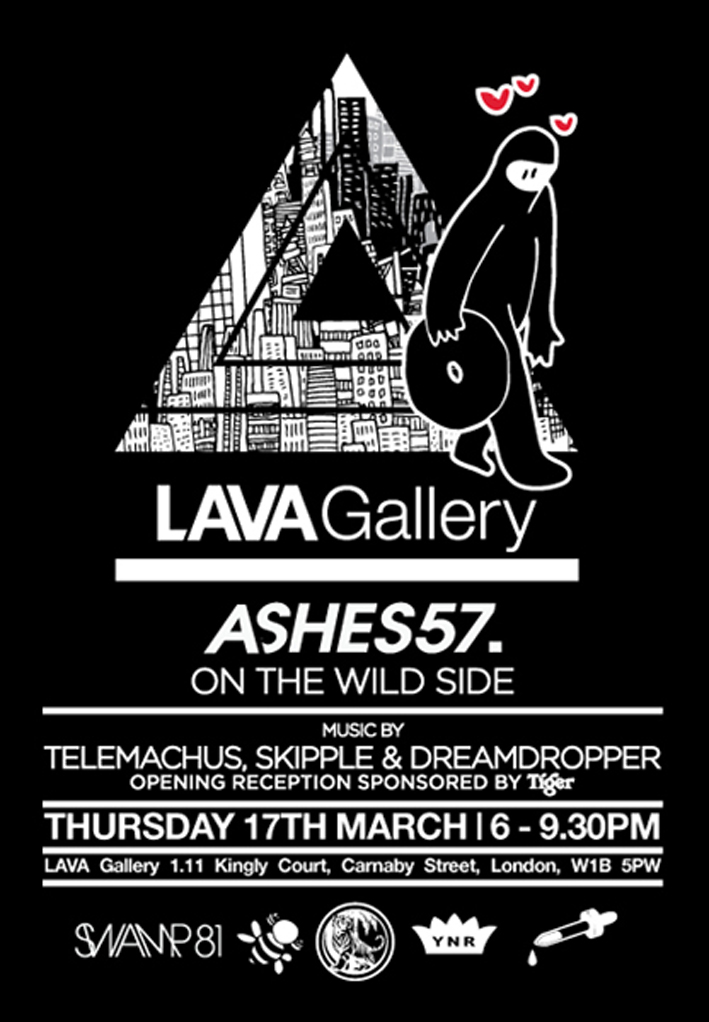 TONIGHT!                                                                        A little short notice, but if you're around central London tonight, make sure you turn out for this one:    Telemachus DJ Set at Ashes57 Show Launch  LAVA Gallery, Kingly Court, Carnaby St. London W1B 5PW    Thursday 17th March  6.00 -9.30pm