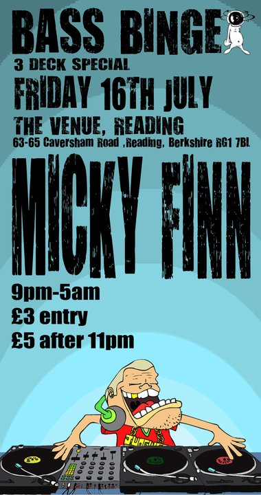 Holdin' Court showcase.  Friday night at The Venue, Reading as part of Bass Binge 3 deck special / presenting DJ Micky Finn.  We're live from 10pm in the main room but do stick around til the end to see us play out at 3am too.  We'll have a selection of emcees present, along with a beatboxing / Dj combination.
