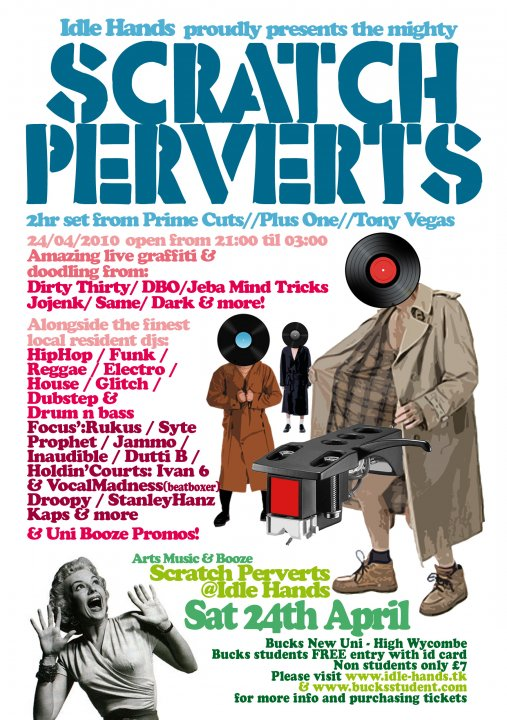Next Saturday 24th April.    Holdin' Courts Dj Ivan6 & Vocal Madness take to the stage over at Idle Hands High Wycombe supporting Scratch Perverts.    http://bucksstudent.com  for tickets.