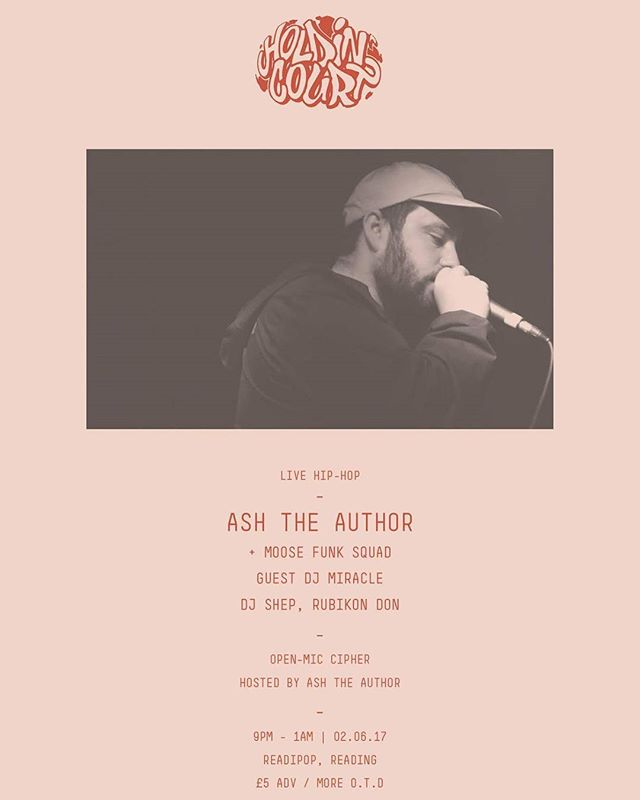 Next month in #rdguk with @ashtheauthor taking centre stage for the launch of his debut LP with support from #moosefunksquad