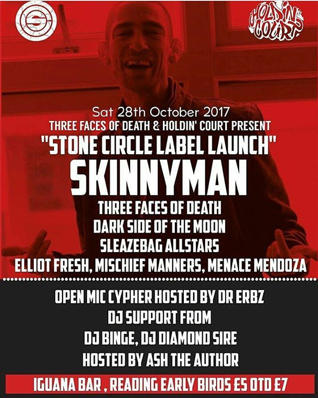 We're teaming up with #threefacesofdeath to bring #skinnyman to #rdguk this October!  Join us on 28.10.17 at Iguana for the #stonecircle album launch!