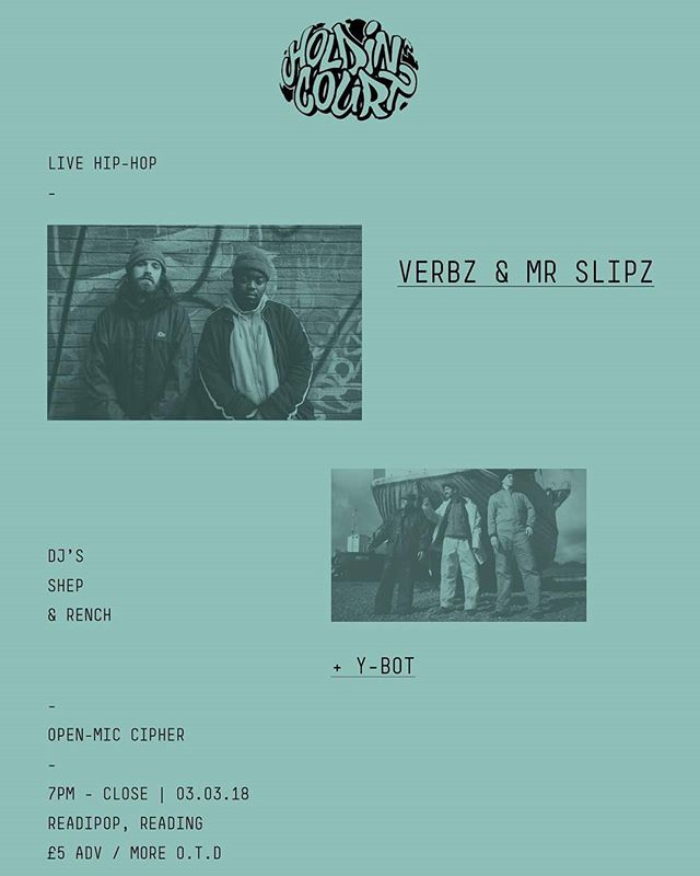Holdin' Court is 9 years old today! To celebrate we've got back to back events this March with @verbzyygram & @mr_slipz plus a live band in Reading on 03.03.18. Join us!  #holdincourt #ukhh #rdguk #hiphop