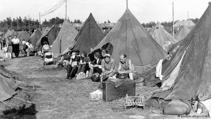 A refugee camp for German 'displaced persons' following the end of World War II.
