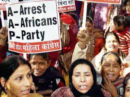 An AAP rally to support Party leader Somnath Bharti. India Times.
