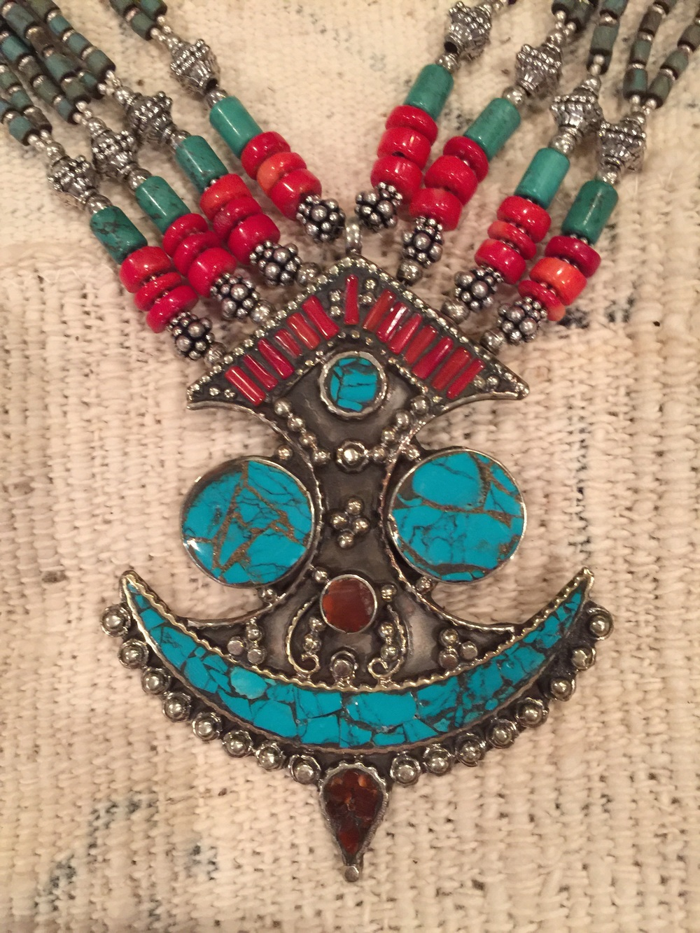 Moroccan necklace, Taureg design