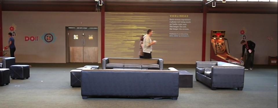 Voxlinea: Twilio Dataviz Installation