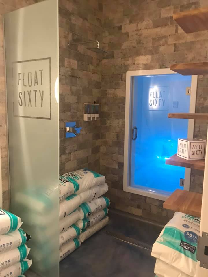 Suites 3 & 4: Wave Float Cabins - Tried and true and available at all Float Sixty locations. This roomy float cabin can go totally dark or guests can opt for lights on or off in a variety of colors during their float. Glass door steps right into the waterfall shower.Select Suites 3 or 4: Wave Cabins in our Online Scheduler!