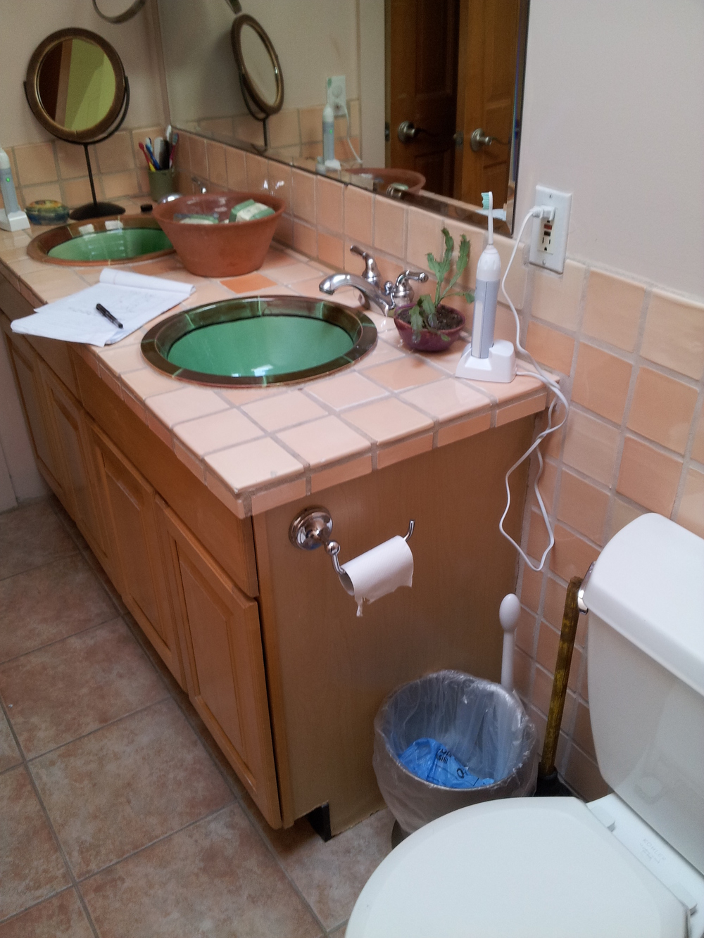 Old house bathroom remodel - This Wonderful Old House In Dowtown Denver Had This Bathroom Added On 20 Years Ago Our Clients Felt That 2015 Was A Great Year For An Uplift