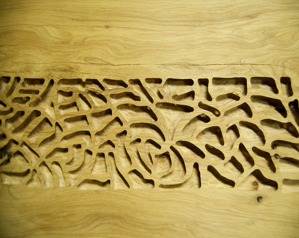 Cypress  (2014)  Wood Engraving Work in Progress