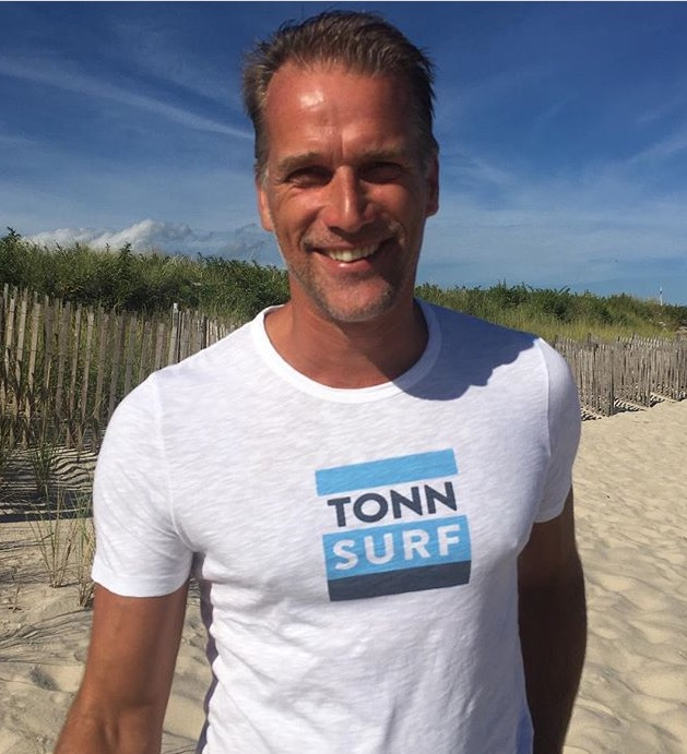 We were so happy to see Michiel in a Tonn tee shirt on the beach in the Hamptons.