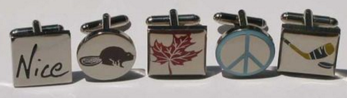 Nice Canadian Mix + Match Cufflink Line. Designed by V. McPhedran