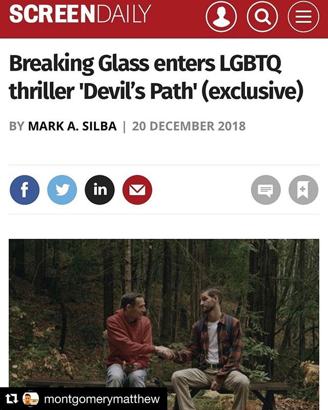 #Repost @montgomerymatthew ・・・ Devil's Path is coming in March 2019! #sold #featurefilm #firsttimedirector #usc #devilspathmovie #writer #director #breakingglasspictures #thriller #gaythriller #psychologicalthriller #screendaily  https://www.screendaily.com/news/breaking-glass-enters-lgbtq-thriller-devils-path-exclusive/5135477.article