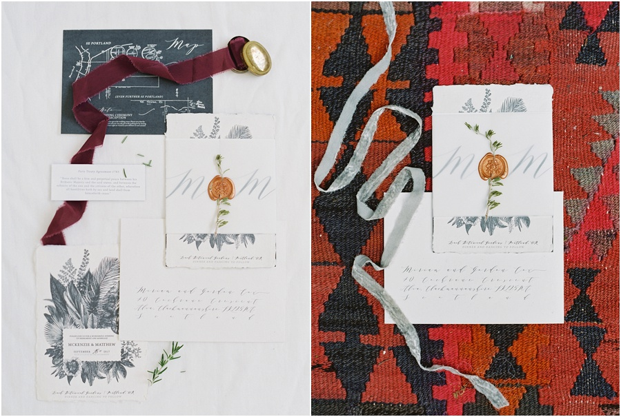 Handmade wedding invitations and save the date paperie by the bride herself.