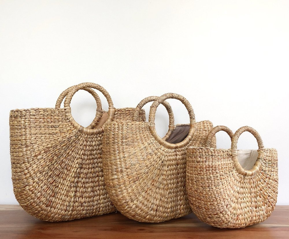 I can't think of a better way to deliver all the handpicked goodies to your bridesmaids than a hand woven tote. These would be adorable with a little coordinating silk ribbon (maybe from their bouquet!) tied around the handle and packed sweetly with treasures from their bride.