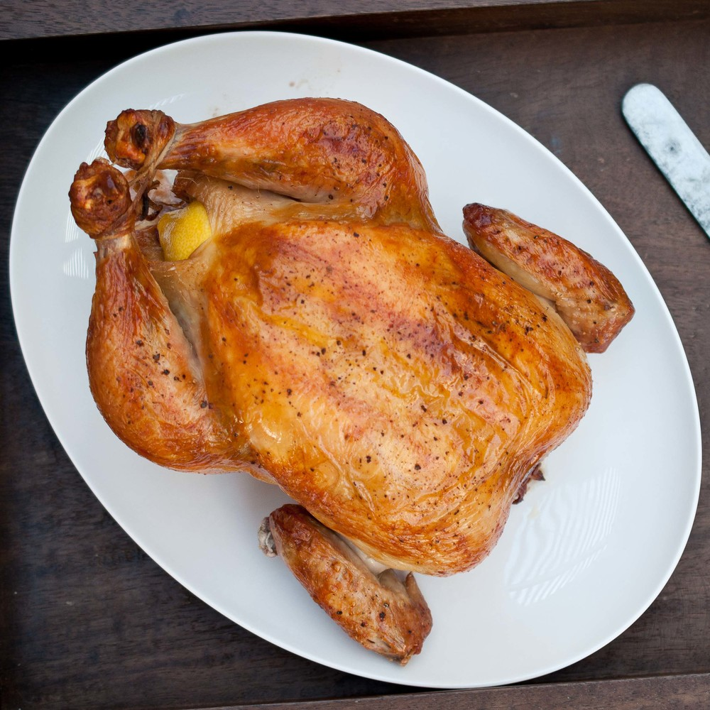 how to roast a whole chicken in a roaster