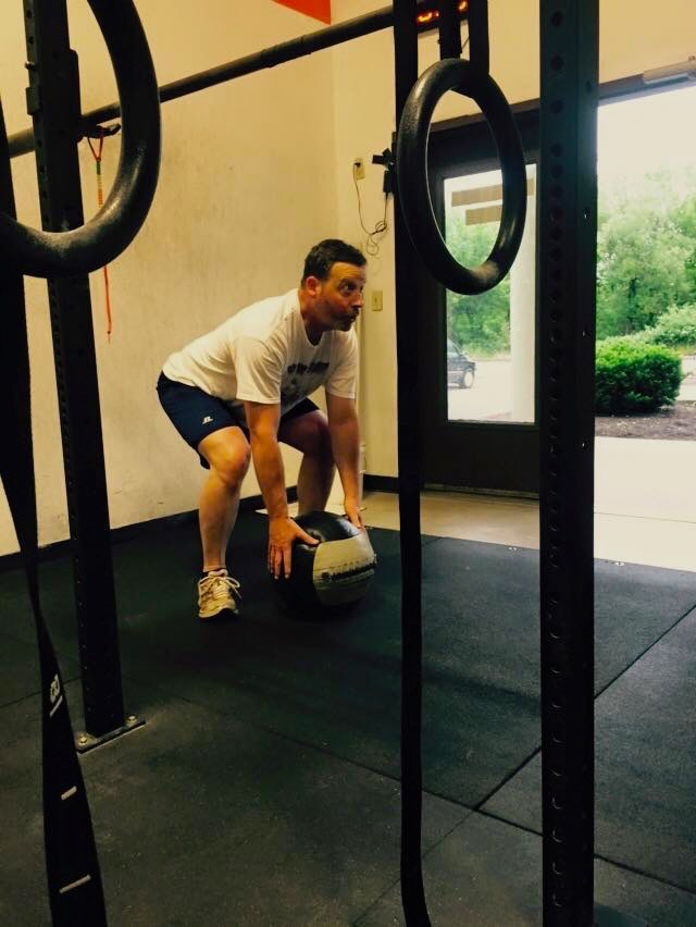 John getting after some med ball cleans!