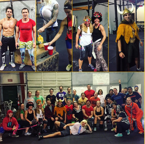 A little Halloween collage, that sure was a fun WOD!!!