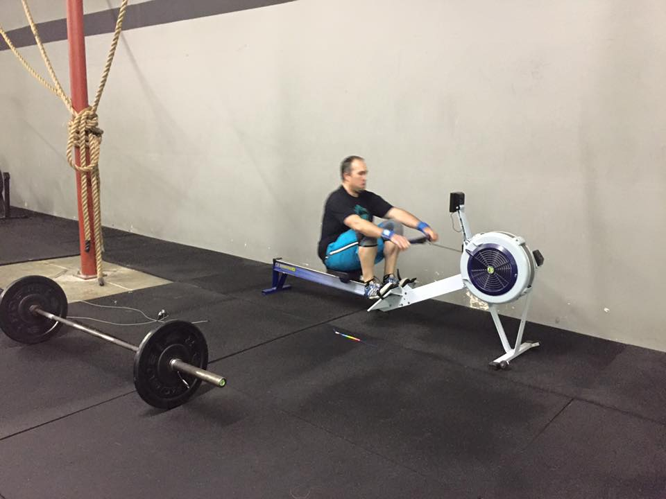 Joey giving one of our new rowers a go for Everyday Warrior WOD#2. Are you ready to test out the new rowers today!!!!