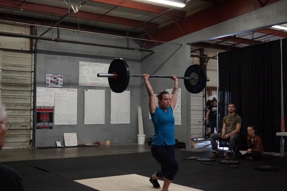 Kat E. at the last Iron Beaver Weightlifitng meet.