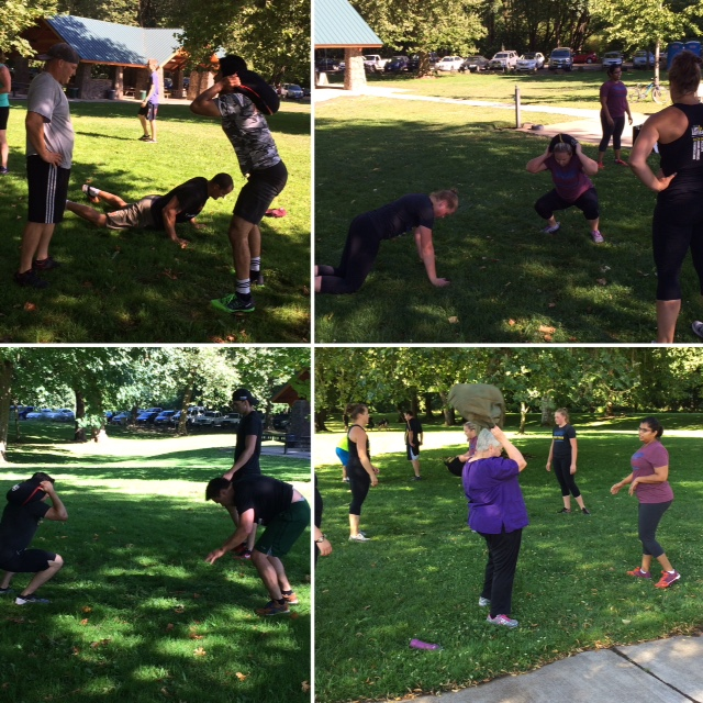 Our version of the CrossFit Games, in the Park :)