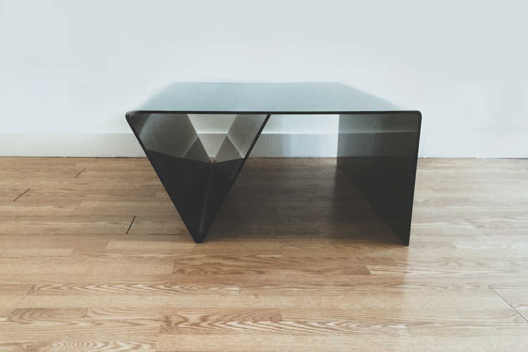 "Eve coffee table, Perspex, LWH: 47"" x 35"" x 17"" $2000 + shipping"
