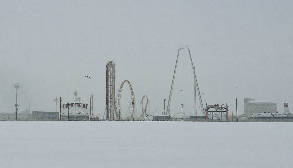 """Coney Island Snow"""