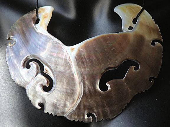 7. Rei moana (ocean) silver lipped pearl shell  $450.00