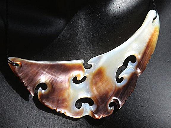 13. Rei moana (ocean) silver lipped pearl shell  $400.00