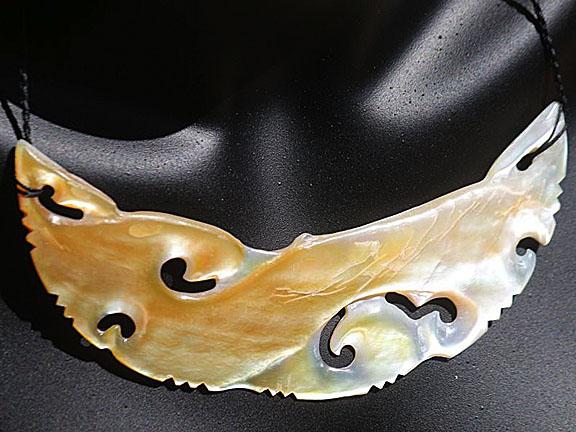19. Rei moana (ocean) gold lipped pearl shell  $400.00