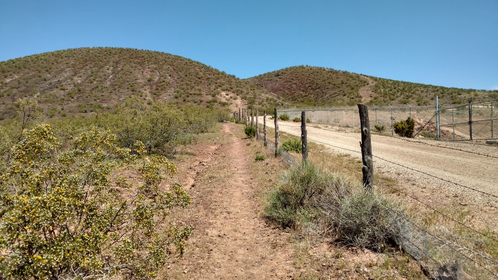 Hiking trail leading to the East Cinder Knoll