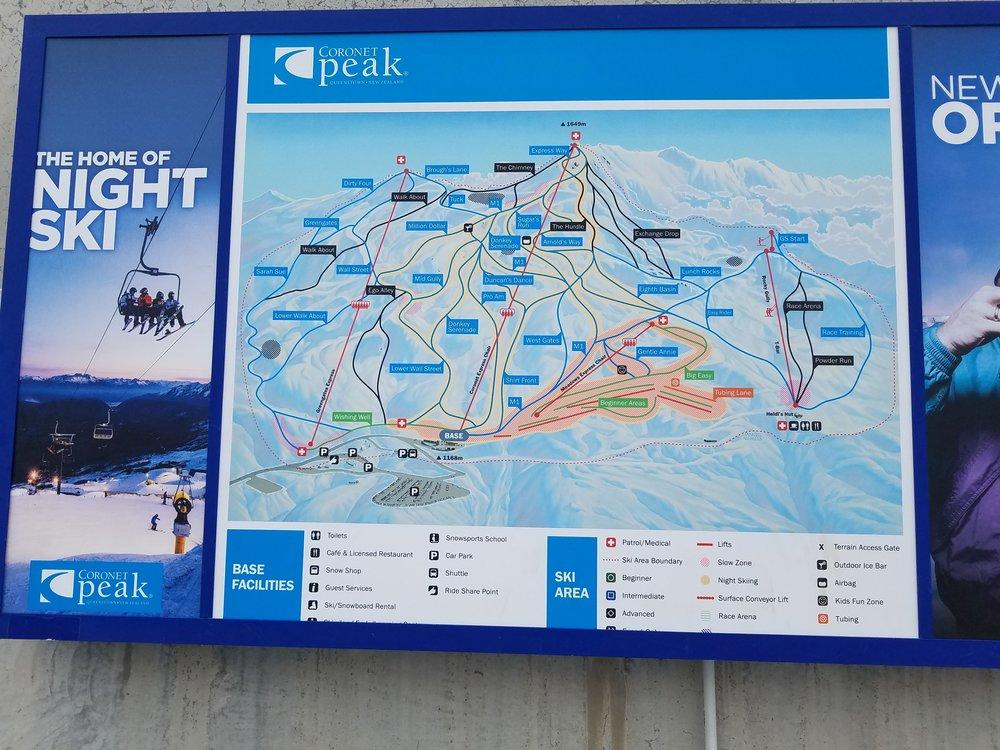 Coronet Peak Ski Area Map