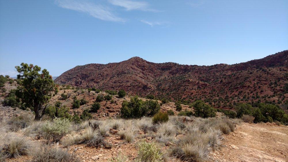 Road side view of unnamed peak 5691