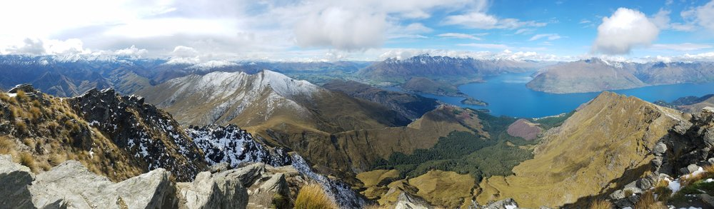 Linda's stunning panorama from the summit of Ben Lomond