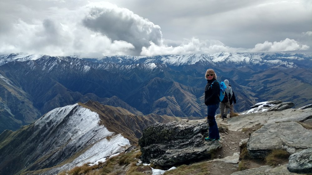 Departing the stunning Ben Lomond summit peak