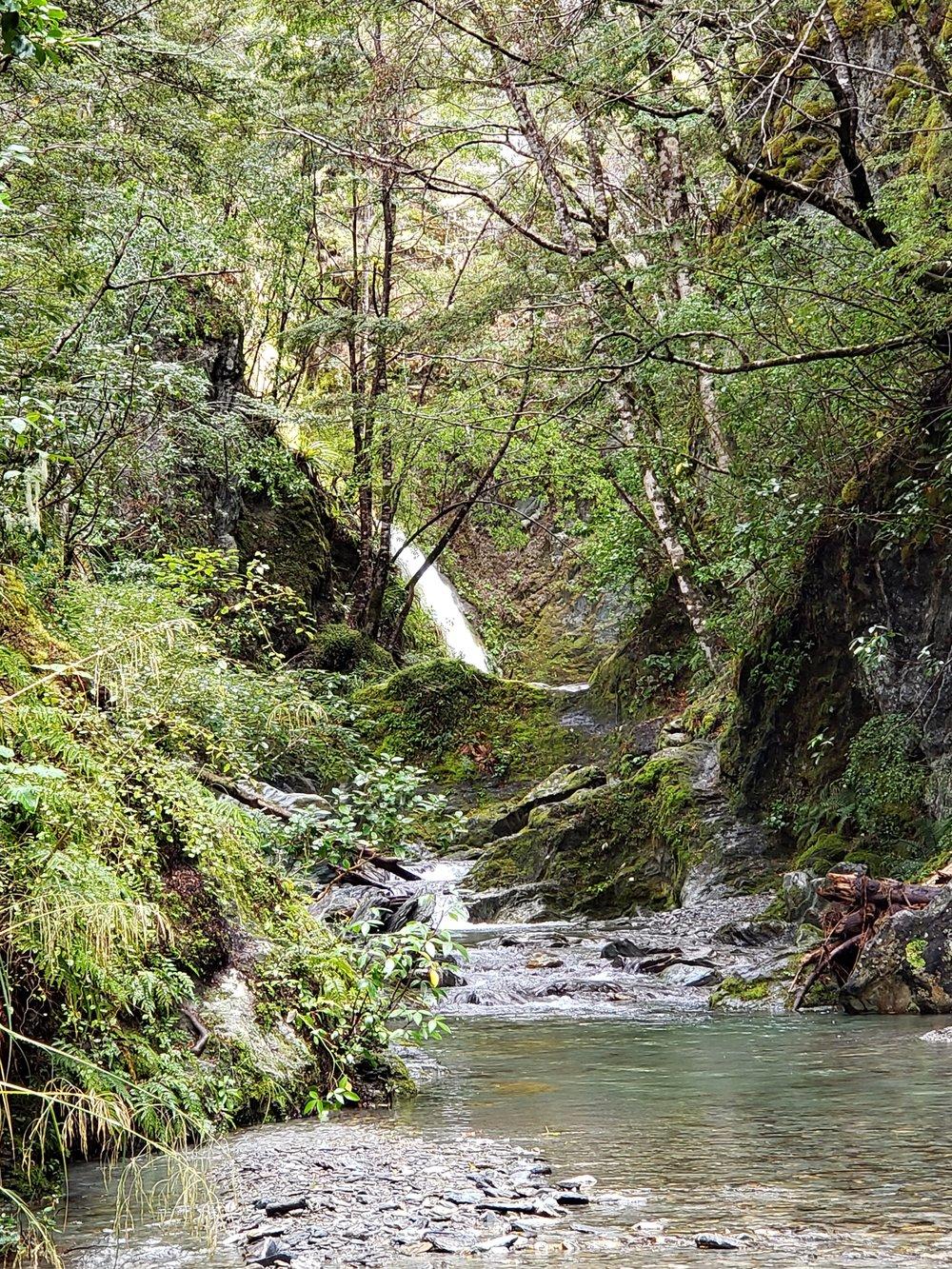 Up stream waterfall