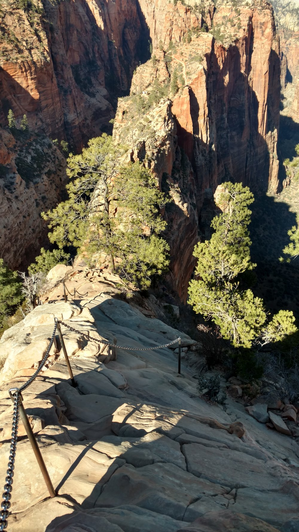 Chained section of Angels Landing