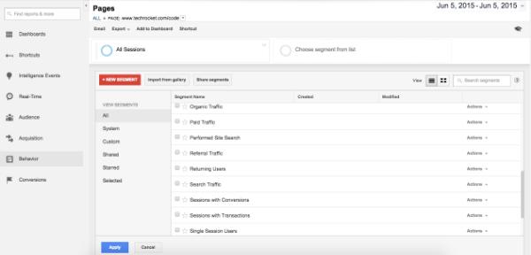 Google Analytics Audience Segmentation