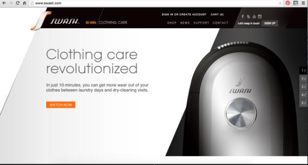 SWASH Website Homepage