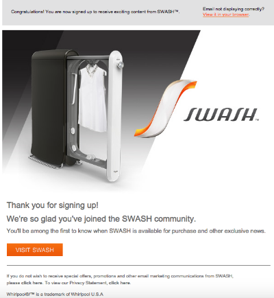 SWASH Email Confusing