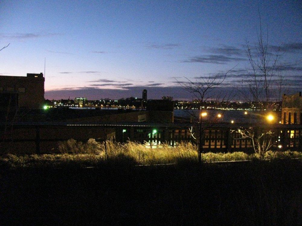 Näkymä New Jerseystä Manhattanin High Line-puistosta. Kuva: Saga Blane