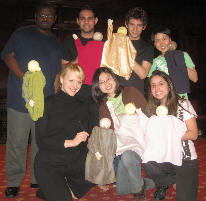 Students of a puppetry workshop at New York's International House.