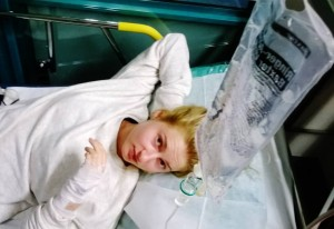 Here is a beautiful picture of me a few years back when I had to be admitted to a hospital in Jyväskylä because we were suspecting that I got bitten by the only poisonous snake species in Finland (okay we have like three different snakes), a (baby) viper. I had to stay there for about 5 hours and it cost me a few dozens of euros. Which was ultimately covered by my travel insurance. Pretty lucky, I'd say! And an interesting experience as such.