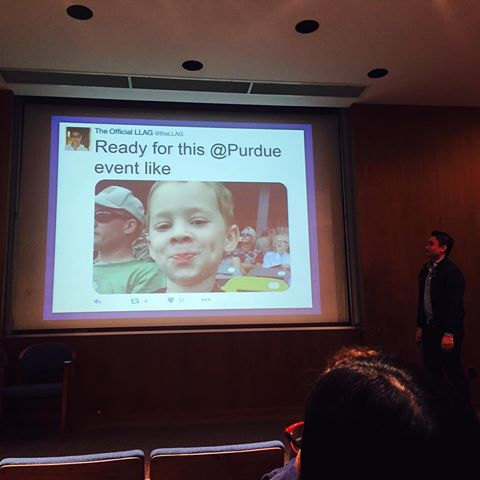 my first speaking event took place one week after the 2016 election - I came to Purdue University in November and encouraged everyone to keep fighting, stay active in politics, and remain confident that change will come. It was one of the hardest and most satisfying things I've ever accomplished.