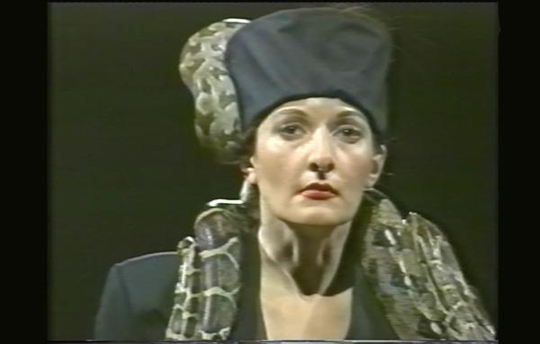 Image: Marina Abramović, Dragon Heads #3, Performance, Single-channel video, Color, 30 minutes, 1990, © Marina Abramović, Courtesy of the Marina Abramović Archives