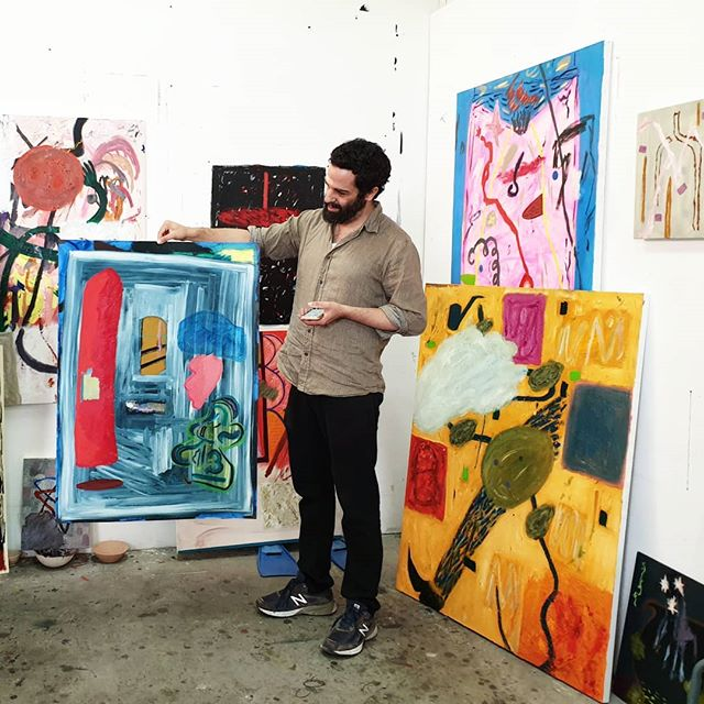 Michal & I just loved helping Art Source collectors from the US choose works at Shai Yehezkelli's studio the other day! Interested in a piece you saw on ArtSource.online? Coming to Israel this spring? Contact us to see it in person and we'll give you access to the best contemporary art from Israel 🤗📧 #ShaiYehezkelli #ArtSourceStudioVisit #ArtSource #ArtSourceOnline