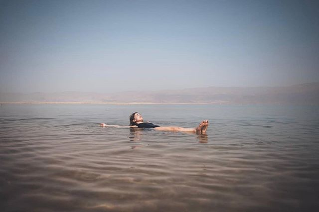 #Floating - thank you @realityisrael for an unforgettable, one of a kind journey! Forever grateful for the beautiful people I've met during this week and for the rare chance to re-discover this land and myself from new angles and perspectives 🙌 Reality Storytellers 2019 you were beyond what I could have imagined 💖 Pic @zachallia ☀️ #realityisrael
